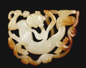 弗利尔旧藏东汉龙虎纹出廓玉璧-中国现代收藏网